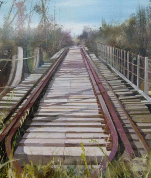 Vias de Tren. 130 x 90 cm